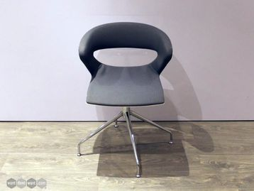 Used Kicca Grey & White Reception Chairs