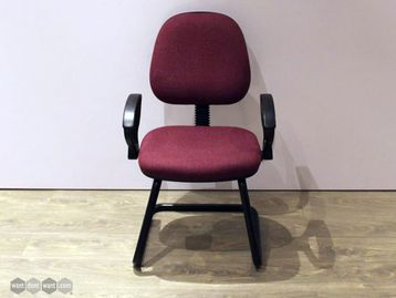Used Meeting Chairs on Black Frame
