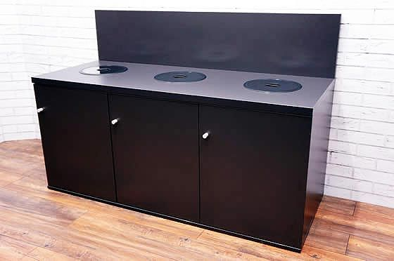 Office Recycling Unit in Graphite Grey MFC Featuring 3 Recycling Ports